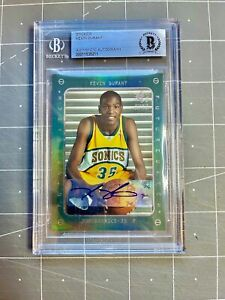 2007 KEVIN DURANT SP ROOKIE GREEN PRIZM RC ROOKIE #121 BGS AUTHENTIC AUTO RARE