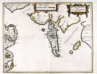 MAP ANTIQUE BLAEU SCOTLAND 1654 ISLE BUTE OLD LARGE REPLICA POSTER PRINT PAM0602