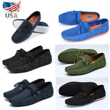 Adadila Men's Driving Loafers Casual Water Hollow Mesh Moccasins Penny Shoes