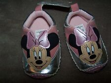 NEW NWT Disney Baby Pink MINNIE MOUSE Soft CRIB SHOES Infant size 6-9 mo
