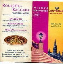 DEPLIANT,PIEGHEVOLE,1927,CASINO,AUSTRIA,VIENNA,AUSTROBUS,BUS,PULLMANN