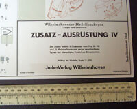 1970s Wilhelmshavener Modellbaubogen Jade-Verlag. Sheet #1233 Warship Extras