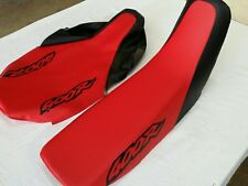 HONDA XR400R 1998 AND 1999 MODEL SEAT COVER RED & BLACK (BLACK LOGO) (H251--n8)