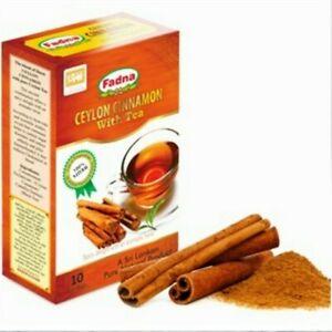 Ceylon CINNAMON TEA Drink Herbal 100% Natural Fat Burn Healthy 10 Tea Bags