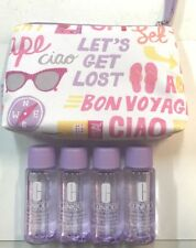 Clinique Lot Of 4 Take The Day Off Makeup Remover for Lids Lashes & Lips- w/ Bag