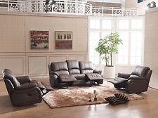 Voll-Leder Fernsehsessel TV-Sofa Relaxsessel Fernsehsofa 5129-3+2+1-377