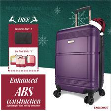 "24"" Luggage Suitcase Trolley Set TSA Travel Carry On Hard Case Soft Lightweight"