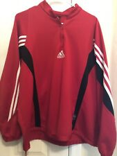 Mens Adidas L/S 1/4 Zip Pullover.. Size XL