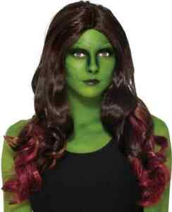 Gamora Wig Guardians of the Galaxy Fancy Dress Halloween Adult Costume Accessory