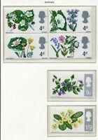s2580) UK GREAT BRITAIN 1967 MNH** Flowers 6v