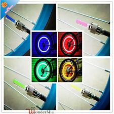 2pcs LED Lamp Tyre Wheel Valve Cap Light For Car Bike D1F9 Supply Bicycle U9I0