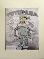 Futurama - Bender - Hand Drawn & Hand Painted Cel
