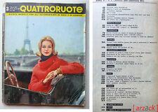 QUATTRORUOTE N 63 Marzo 1961  FIAT 1100 EUROPA - Nasce Giulietta