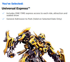 Universal Express tickets includes admission Hollywood, CA. Any date available.