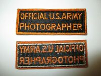 C0486 WW2 Correspondent Official US Army Photographer Patch R10D