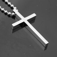 Chain For Men Cross Pendant Jewelry Mens Pendant Necklace Stainless Steel Beads