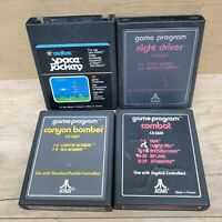 4 Atari 2600 Cartridges CANYON BOMBER ~ NIGHT DRIVER - COMBAT - SPACE JOCKEY