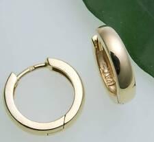 Neu Damen Ohrringe Klapp Creolen echt Gold 333 gewölbt 14 mm Gelbgold 8 karat