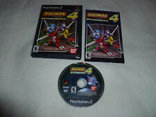 PLAYSTATION 2 GAME DIGIMON DIGITAL MONSTERS WORLD 4 COMPLETE W CASE MANUAL RARE