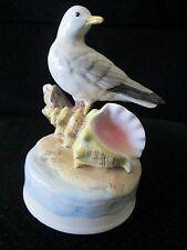 Vintage Music Box Plays By The Beautiful Sea Otagiri Rotates Seagull Beach Bird