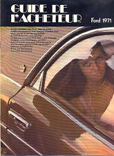 Ford Escort Taunus Mustang Capri 17M 20M 26M 1971 French market sales brochure