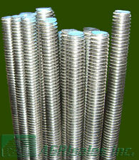 """3/8""""-16 x 3' Stainless Steel (SS) Threaded Rod - 6 Pcs"""