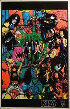Kiss 23x35 Next Twenty Years Blacklight Poster 1995 Gene Simmons Paul Stanley