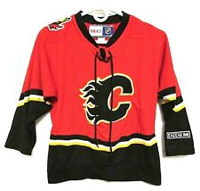 Calgary Flames Official NHL CCM Blank Jersey Youth Boy or Girl
