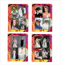 PRINCESS DIANA   4 SOUVENIR SHEETS MNH UNPERFORATED famous people