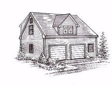 30x26 2 Car Garage with Dbl Wide Front Dormer & Full Dormer Loft Building Plans