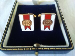 Vintage EMBASSY No.1 CUFFLINKS in VGC cigarette tobacco advertising collectable