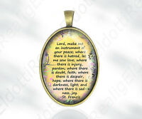 The Peace Prayer of Saint Francis: Lord, make me an instrument... Medal Catholic
