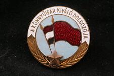 Hungary Hungarian Medal Perfect Worker Light Industry Manufacturing Badge Rakosi