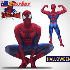 3D Printing Marvel Amazing Spiderman Costume Adult Halloween Cosplay Zentai Suit