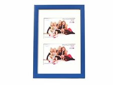 Inov8 British Made Traditional Picture/Photo Frame, Royal Blue, 12x8 Dual Apertu