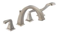Delta Dryden 2-Handle Deck-Mount Roman Tub Faucet Trim Kit in Ss w/Hand Shower