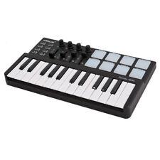 Portable Beat Maker 25 Key USB Keyboard MIDI Controller Drum Pad Set Durable