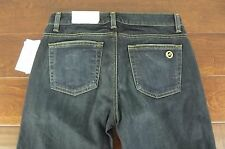NEW Michael Kors Jet Set Bootcut Jeans Sz 2 Womens Dark Blue Wash Boot Leg NWT