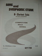 Song and Symphonic Etude B Flat Clarinet Solo Piano Accom Andrew Fox Sheet Music