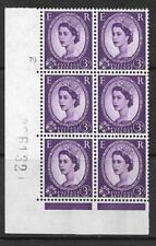 3d Wilding Violet 9.5mm Phosphor CB cyl 79 No Dot perf A(E/I) UNMOUNTED MINT