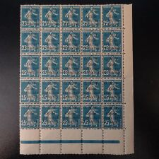 FRANCE COLONIE CILICIE SEMEUSE N°101 BLOC DE 25 NEUF ** LUXE MNH COTE MAURY 275€