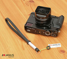 Camera Leather wrist strap | Handmade | FujiFilm X Leica Typ Olympus OM Nikon Z
