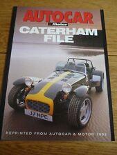 Cohete interesante comparación con Lotus Caterham 7HPC a'car & MOTOR FOLLETO de ventas' ' 1992