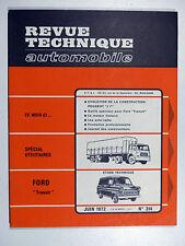 Revue Technique Automobile - FORD TRANSIT - Juin 1972 - N° 314