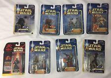 1998 2002 2003 Hasbro Star Wars Action Figures Lot Of 8 Darth Maul/Vader Yoda
