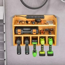 Drill Charging Station | Drill Storage | Wall Mounted Tool Storage Organizer | -