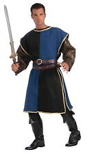 Medieval Tabard (Blue + Black  w/Gold Trim) - Adult - Game of Thrones / Knight