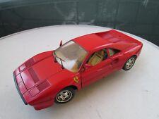 voiture burago FERRARI rouge GTO en métal collection luxe vintage