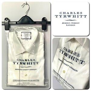 """CHARLES TYRWHITT NEW Men's Long Sleeve Slim Fit Non Iron Formal Shirt Size 16.5"""""""