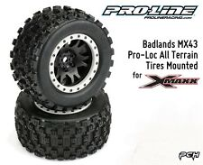 Pro-Line Badlands MX43 Pro-Loc All Terrain Tires Mounted for X-Maxx PRO1013113